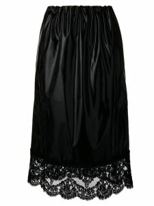 Nº21 lace trim midi skirt - Black