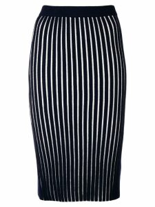 Victoria Victoria Beckham striped pencil skirt - Blue