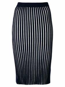 Victoria Victoria Beckham striped pencil skirt - Blue