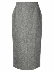 Rochas high-waisted midi skirt - Grey