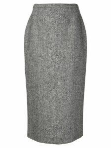 Rochas high-waisted midi skirt - Grey