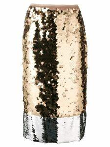 Nº21 sequinned midi skirt - Metallic