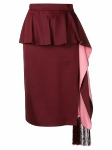 Alexander McQueen pleated layered midi skirt
