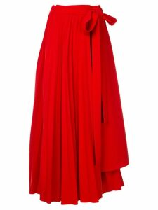 Dalood pleated long skirt - Red