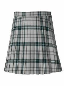 Thom Browne Pleated Tartan Uniform Twill Skirt - Grey