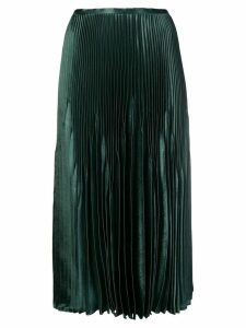 Vince high-waisted pleated skirt - Green