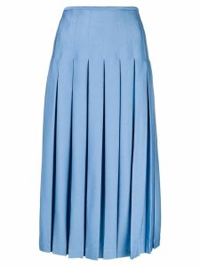 Victoria Beckham pleated midi skirt - Blue