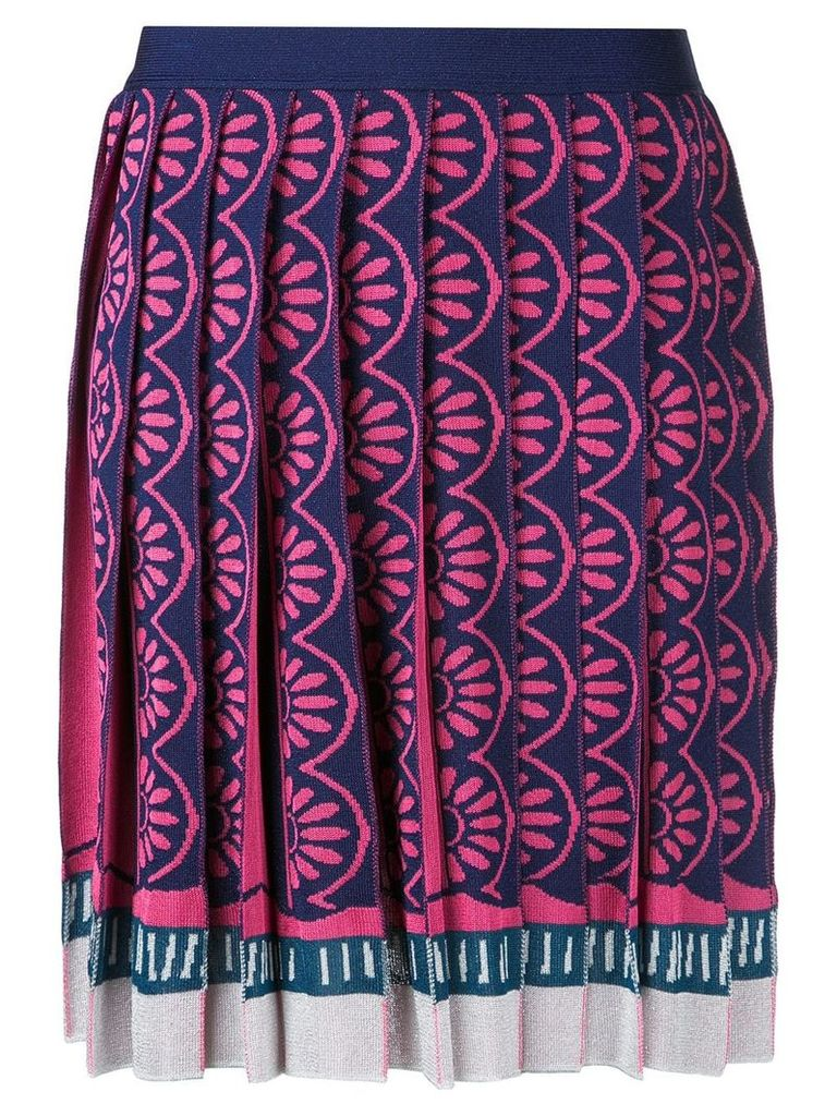 Mary Katrantzou Exene knitted knife pleat skirt - Multicolour