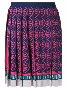 Mary Katrantzou Exene knitted knife pleat skirt - Multicolour
