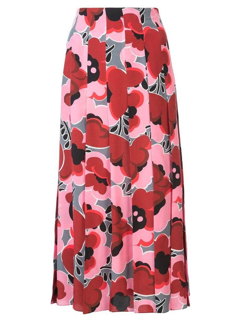 Gucci Poppies silk skirt - Pink