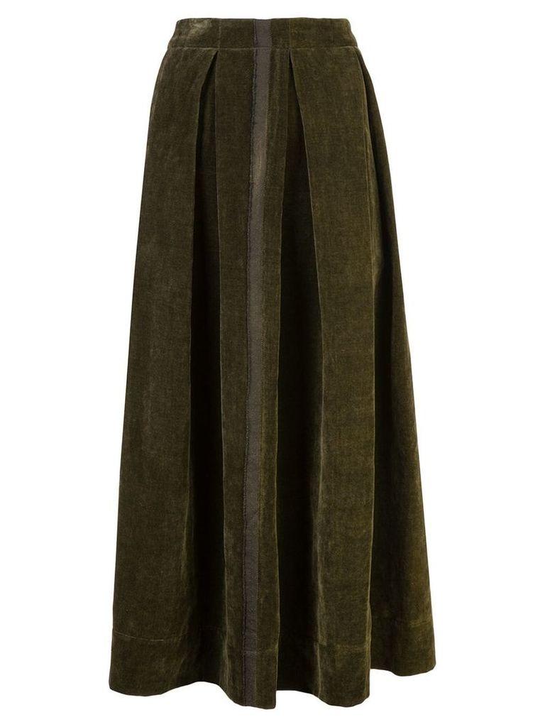 Uma Wang front pleat full skirt - Grey