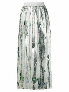 MSGM pleated midi skirt - Metallic