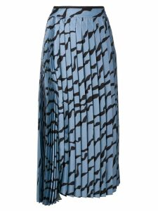 Victoria Victoria Beckham wave pleated midi skirt - Blue
