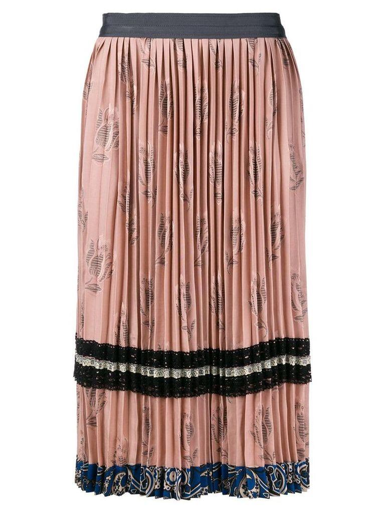 Coach pleated midi skirt - Pink