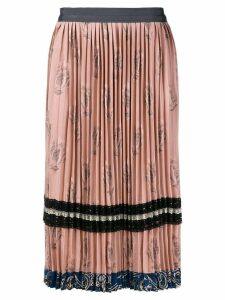 Coach pleated midi skirt - Pink