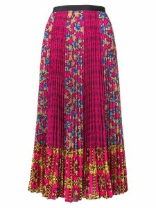 Red Valentino mixed print midi skirt - Pink