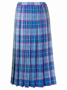 Marco De Vincenzo checked pleated skirt - Blue
