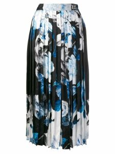 Off-White printed pleated skirt - Black