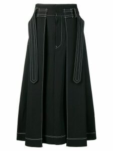 Ujoh Hakama tuck skirt - Black