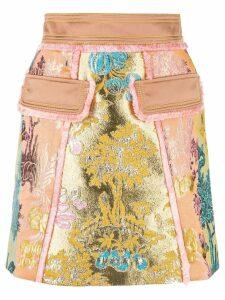 Peter Pilotto floral jacquard metallic skirt