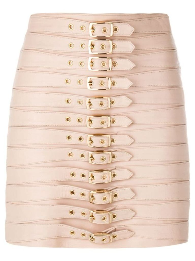 Manokhi multi buckle skirt - Pink