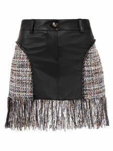 Andrea Bogosian skirt with fringes - Black
