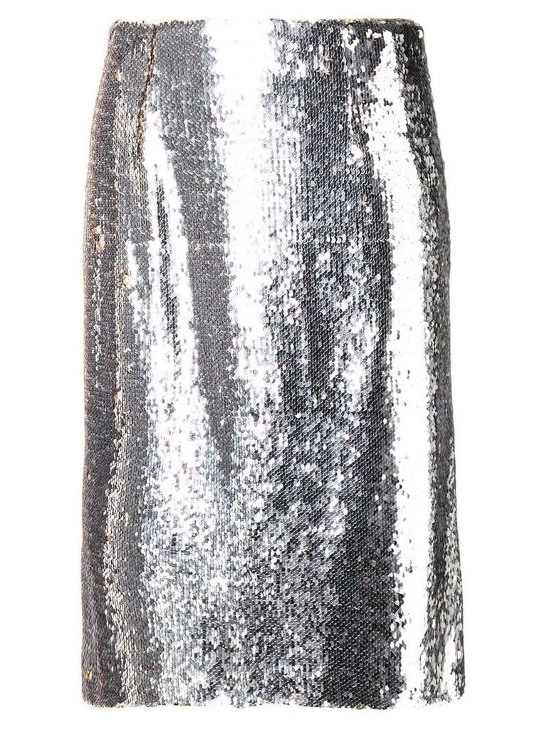 Paule Ka sequined straight skirt - Metallic