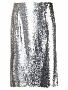 Paule Ka sequined straight skirt - Metallic
