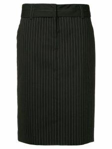 We11done straight pinstripe skirt - Black