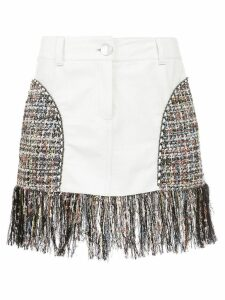 Andrea Bogosian short skirt with fringes - White