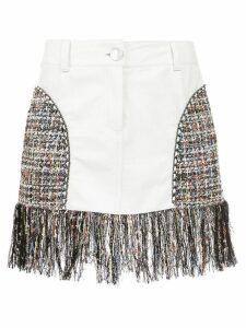 Andrea Bogosian short skirt with fringes - White