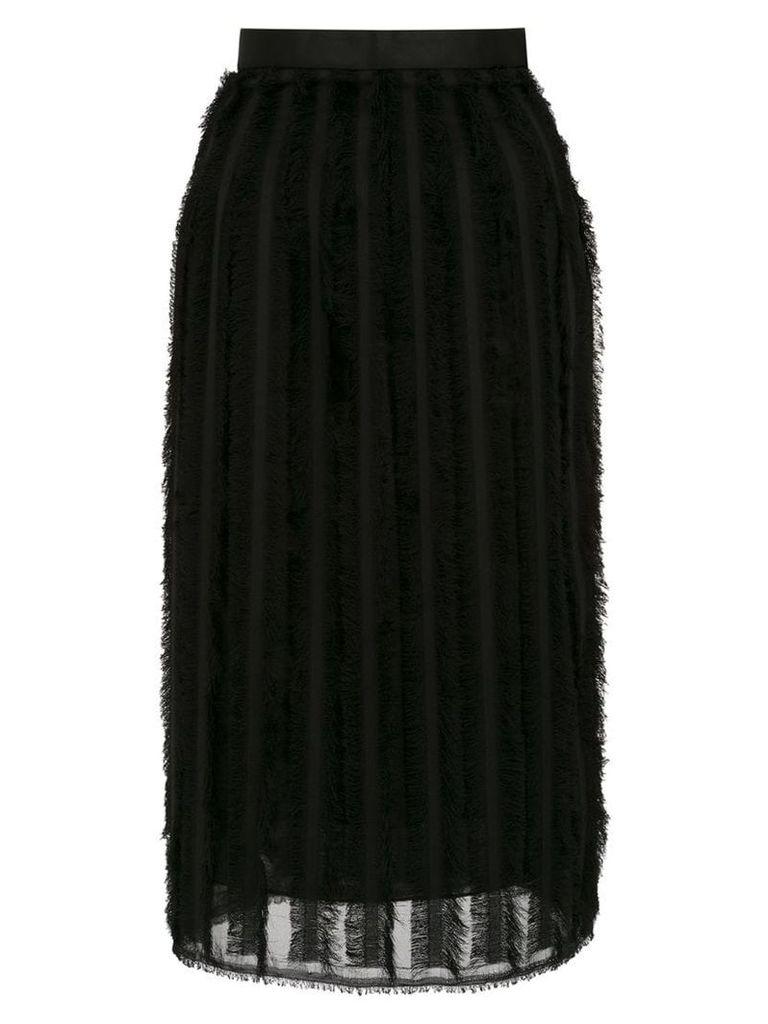 À La Garçonne fringed skirt - Black