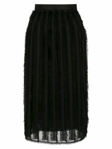 À La Garçonne fringed skirt - Black