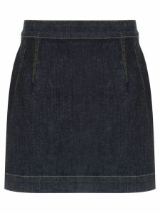À La Garçonne high waisted denim skirt - Blue