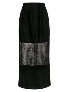 À La Garçonne panelled long skirt - Black