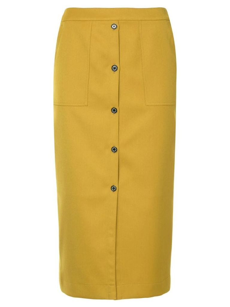 Guild Prime button front skirt - Yellow