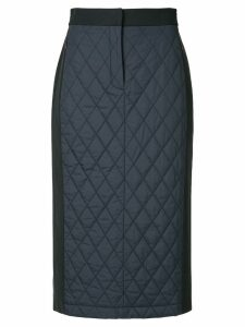 Tibi quilted combo skirt - Black
