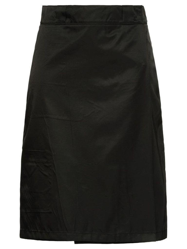 Prada flap front midi skirt - Black