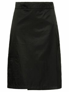 Prada flap front midi skirt - Black