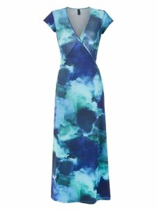 Lygia & Nanny Gaviao printed dress - Blue