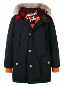 Woolrich Woolrich x Griffin hooded coat - Black