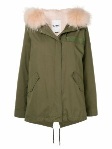 Yves Salomon Army short parka - Green