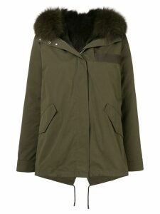 Yves Salomon Army reversible short parka - Green