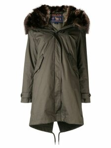Woolrich fur-trim hooded parka coat - Green