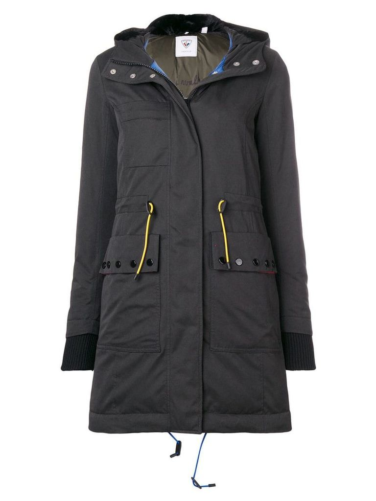 Rossignol hooded parka coat - Black