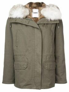 Yves Salomon Army hooded parka coat - Green