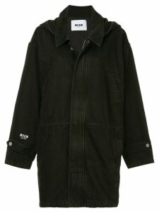 MSGM denim parka coat - Black