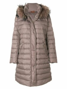 Baldinini fur hooded coat - Brown