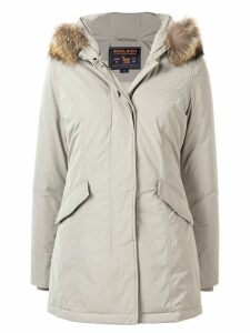 Woolrich fur trimmed parka coat - Grey