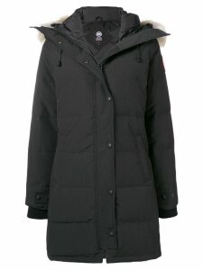 Canada Goose hooded mid-length coat - Black